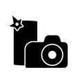 camera and smartphone photo sign silhouette vector image vector image