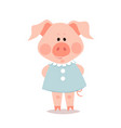 cartoon little pig year pig vector image vector image