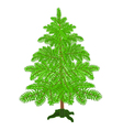 Christmas tree with the stand vector image