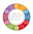 Circle Diagram Template vector image vector image