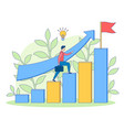 climbs up steps busines people filled vector image