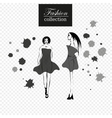 collection of fashion girls vector image vector image