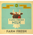Cow milk poster vector image vector image