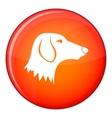 Dachshund dog icon flat style vector image vector image