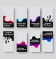 design vertical black web banners with place vector image vector image