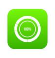 diagram pie chart icon digital green vector image vector image