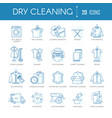 dry cleaning laundry service line icons set vector image vector image