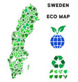 ecology green mosaic sweden map vector image vector image