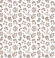 Floral seamless background - pattern for continuou vector image vector image