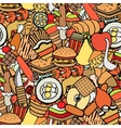 food and sweets seamless pattern vector image