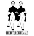 future is female hand drawn of vector image vector image