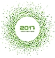 Green Circle New Year 2017 frame white Background vector image vector image