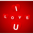 I love u vector image
