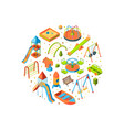 isometric playground objects vector image vector image