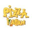 Italian pizza Background vector image vector image