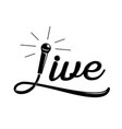 live music calligraphy design vector image vector image