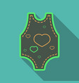 long sleeve baby bodysuits with cute design vector image