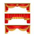 luxury curtains realistic composition vector image vector image