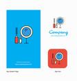 makeup company logo app icon and splash page vector image