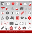 medical icons and symbols healthcare vector image vector image
