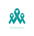 Ovarian Cancer flat group of ribbons connected vector image vector image