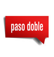 paso doble red 3d speech bubble vector image vector image