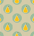 Pear pattern Seamless texture with ripe pears vector image vector image