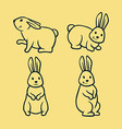 Rabbit Line Art vector image