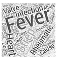 Rheumatic Fever and Heart Disease Word Cloud vector image vector image