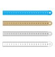 rulers set vector image vector image