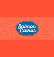 salmon caviar banner in cartoon style vector image