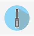 Screwdriver Color Icon vector image vector image