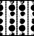 seamless black and white hand drawn pattern vector image vector image