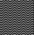 Seamless black and white wave pattern background vector image vector image