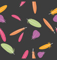 seamless colorful multicolor pattern with feathers vector image vector image