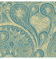 Seamless drawn doodle pattern vector image vector image