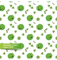 Seamless pattern with smoothies and fruit pieces vector image vector image