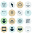 set of 16 online connection icons includes vector image