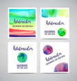 Set of Banners with green violet and blue vector image vector image