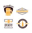 set vintage logo badge emblem or logotype vector image vector image
