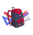 side view on fashionable model of kids backpack vector image vector image