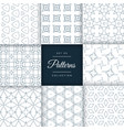 stylish geometric patterns set collection vector image vector image