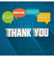 thanks in different languages design vector image vector image