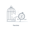 Time management and freelance work concept vector image vector image