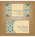 vintage vizit cards set vector image vector image