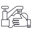 washing handswash crane line icon sign vector image vector image