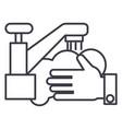 washing handswash crane line icon sign vector image