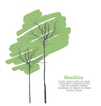 green trees on white vector image
