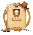 Rodeo Retro Poster vector image
