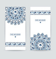 Set of two ethnic banners vector image